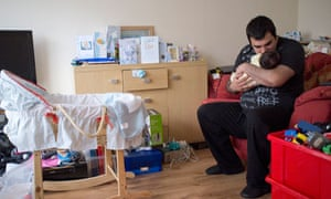 Unemployed father Daniel Lee, Consett, Country Durham