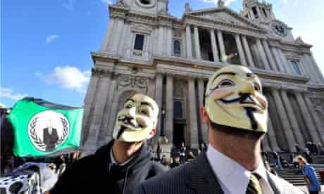 Occupy protesters outside St.Paul's Cathedral.