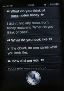 Siri on an iPhone 4S