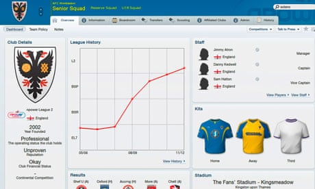 Football Manager 2012 Review Technology The Guardian