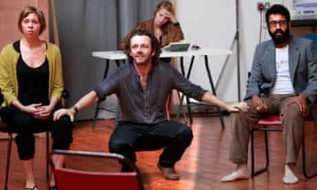Michael Sheen in rehearsals for Hamlet