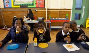 Mitchell Brook primary school's breakfast club in north London has improved pupil performance.