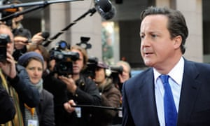 David Cameron arrives for an EU summit in Brussels