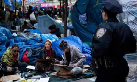 Occupy Wall Street protestors, Zuccotti Park