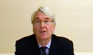 Les Hinton, a former News International executive, appearing before the media select committee