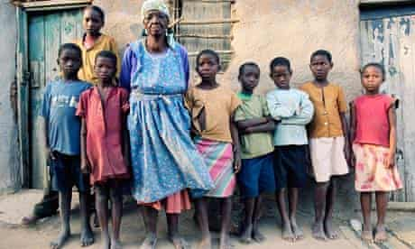 A grandmother-headed household in the Enkamanzi community in rural Swaziland