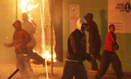 Rioters in Tottenham, north London, in August 2011