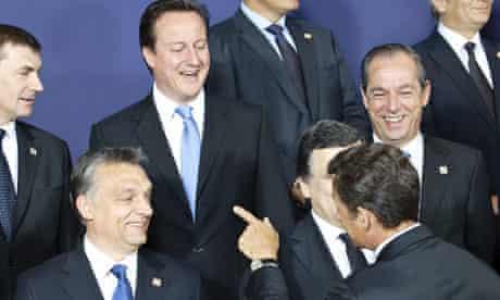 EU Summit, Cameron, Sarkozy