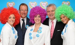 Richard Desmond, Eamonn Holmes and Health Lottery promoters