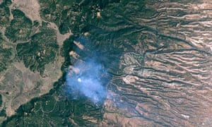 satellite image of forest fires in new mexico