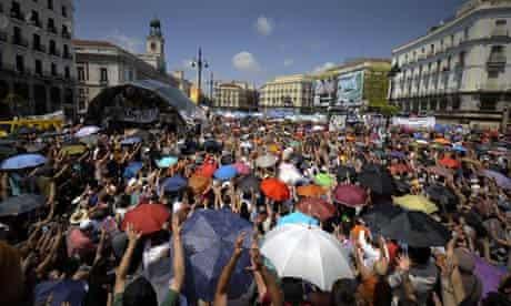 Protesters Puerta del Sol Madrid