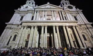Occupy London demonstrators at st paul's