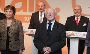 Irish presidential race michael higgins