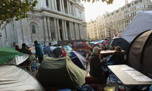 St Paul's Cathedral and occupy london protest
