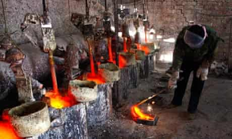 Rare earth metal smelting plant in Mongolia