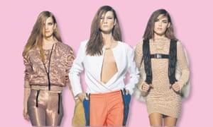 Models wearing designs by Kanye West