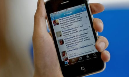 Twitter display on iPhone