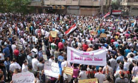 Protest against Syria's president in Homs