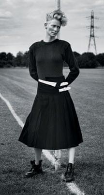 Tilda Swinton photographed for Vogue