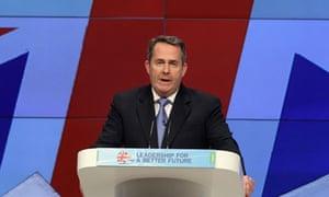 Liam Fox Conservative Conference