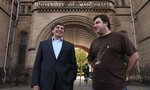 Nobel winners Andre Geim and Dr Konstantin Novoselov