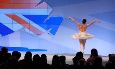 A ballet dancer during the conference's culture debate