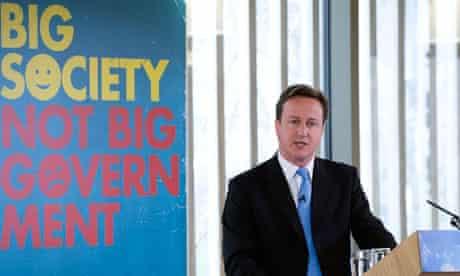 David Cameron at the 'big society'