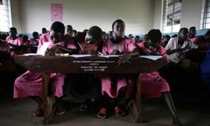 Girls in Katine Primary School Uganda
