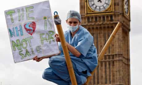 Uk uncut and health workers on westminster bridge