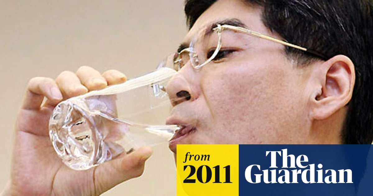 Japanese MP drinks Fukushima water under pressure from