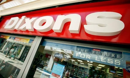 Dixons high street electrical shop, store, Derby.