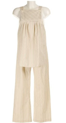 Cream Candy Striped Maternity Dungarees  from Rocki