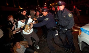 Protesters clash with police near Zuccotti Park