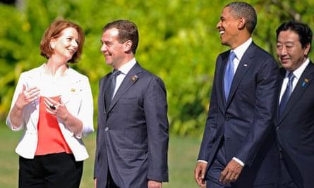 Barack Obama and Julia Gillard 4