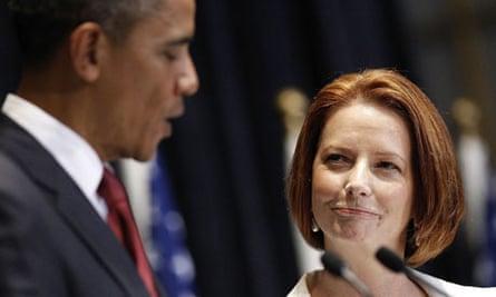 Barack Obama and Julia Gillard 6