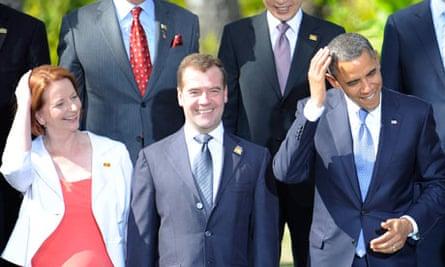 Barack Obama and Julia Gillard 7