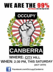 A poster for Occupy Canberra