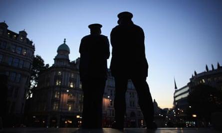 Police officers on duty outside St Paul's