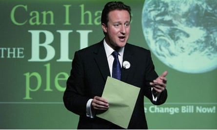 David Cameron Launches Climate Change Policy