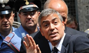 George Clooney who can be called as a witness in Silvio Berlusconi's underage sex trial