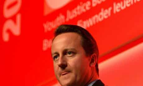David Cameron youth justice board