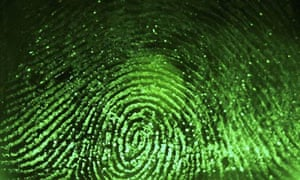 Fingerprint scanned for biometrics