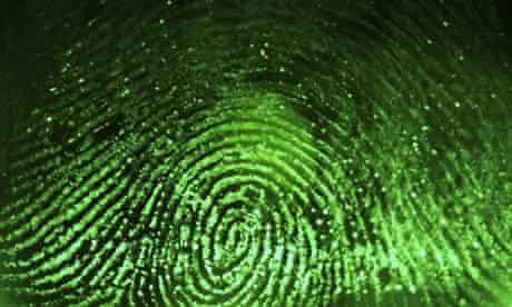 Fingerprint scanned for biometrics