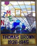 Tommy Brown memorial window, North Shields