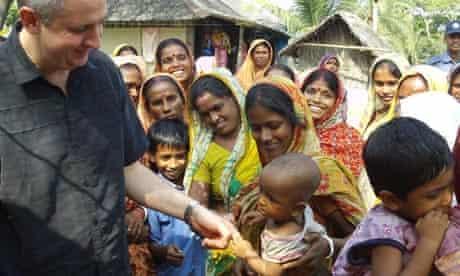 Shadow secretary of state for international development, Ivan Lewis, in Bangladesh