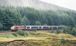 The Caledonian Sleeper journeys through the Highlands.