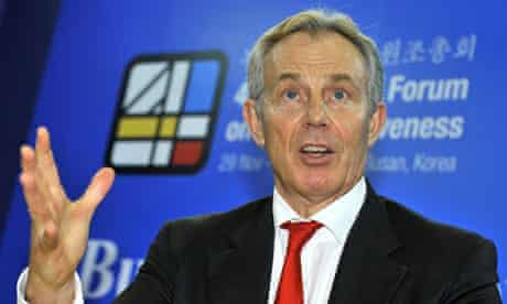 Tony Blair at the fourth high-level forum on aid effectiveness in Busan