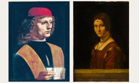 The Musician and La Belle Ferronniere, by Leonardo da Vinci.