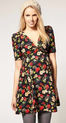 88aec5fcd8c0 Floral 1940s style maternity dress from Asos