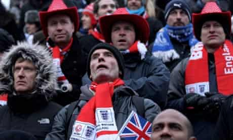 England football fans hearing that the 2018 Fifa World Cup host would be
